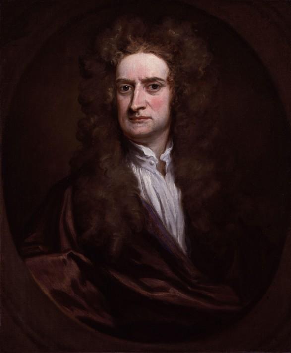 Годфри Кнеллер. Портрет сэра Исаака Ньютона. 1702. Масло, холст. 75,6х62,2 см. Национальная портретная галерея, Лондон.