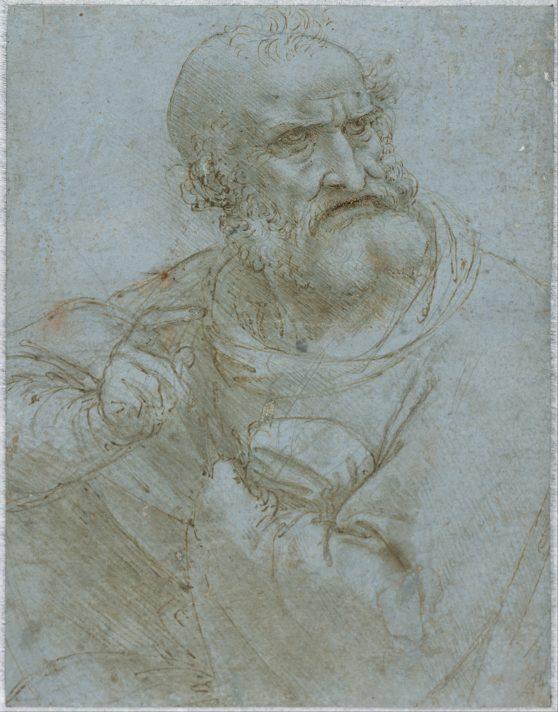 Леонардо да Винчи. Фигура Апостола. 1493-1495. Альбертина, Вена.
