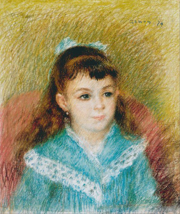 Пьер-Огюст Ренуар. Портрет девочки. 1879.
