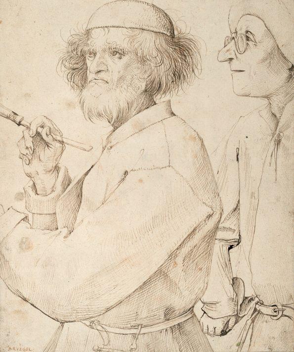 Питер Брейгель Старший. Художник и знаток. Около 1565-1567. Альбертина, Вена.
