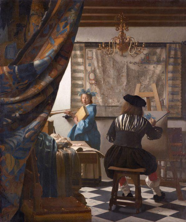 Ян Вермеер (1632-1675). Аллегория живописи, или Искусство художника. 1666. Масло, дерево. 120х100 см. Музей истории искусств, Вена.