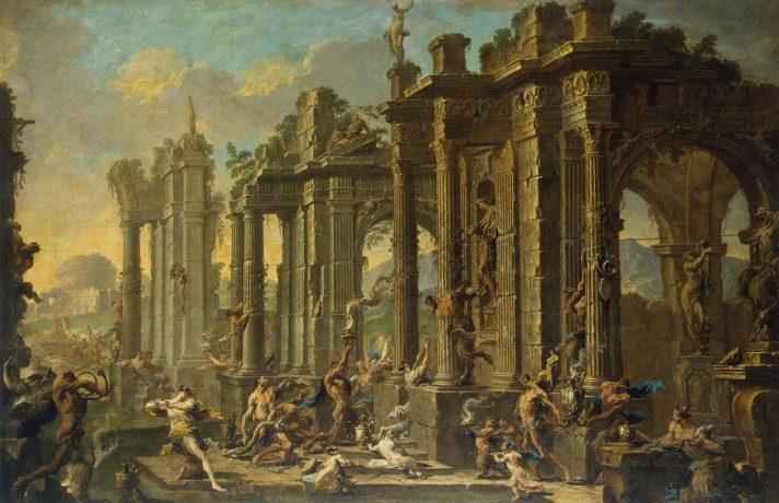 Алессандро Маньяско (1667-1749). Вакханалия. 1710-е. Масло, холст. 110х167 см. Государственный Эрмитаж, Санкт-Петербург. Источник http://www.wga.hu/