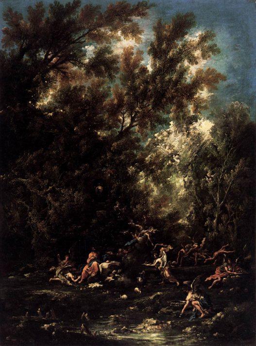 Алессандро Маньяско (1667-1749). Христос и ангелы. Масло, холст. 193х142 см. Прадо, Мадрид. Источник http://www.wga.hu/