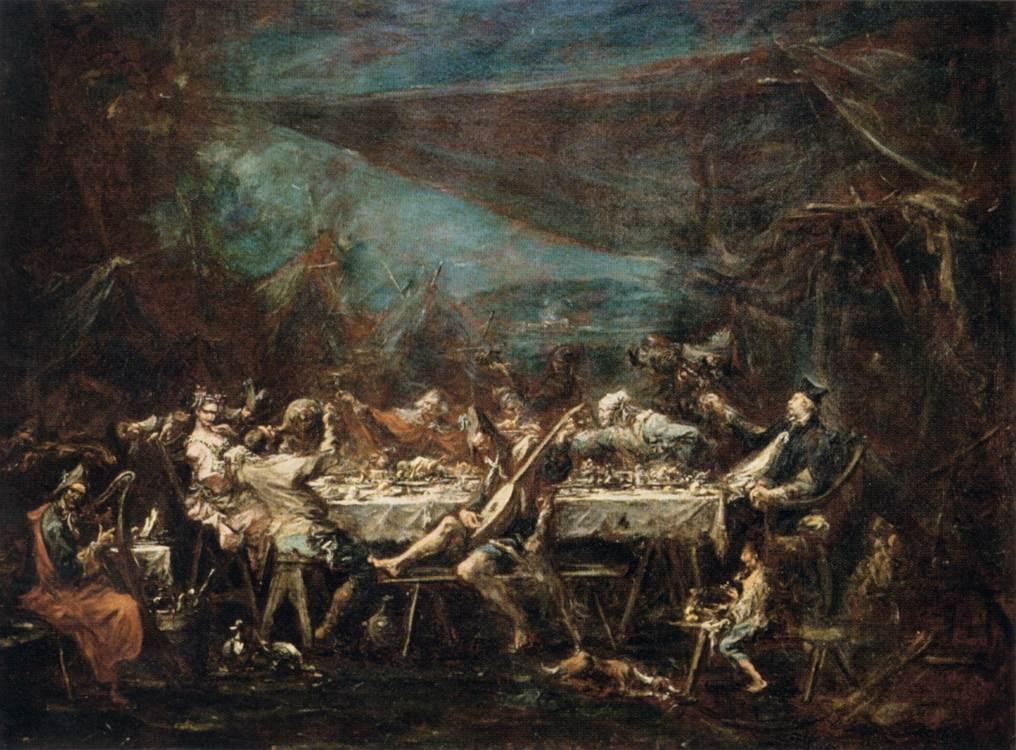 Алессандро Маняско (1667-1749). Цыганская свадьба. 1730-1735. Масло, холст. 86х118 см. Лувр, Париж. Источник http://www.wga.hu/