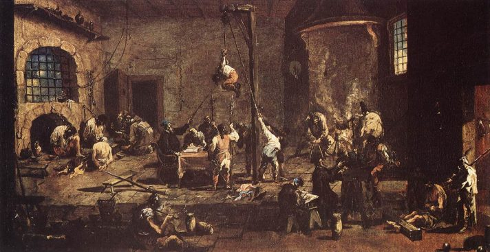 Алессандро Маньяско (1667-1749). Допрос в тюрьме. 1710. Музей истории искусства, Вена. Источник http://www.wga.hu/