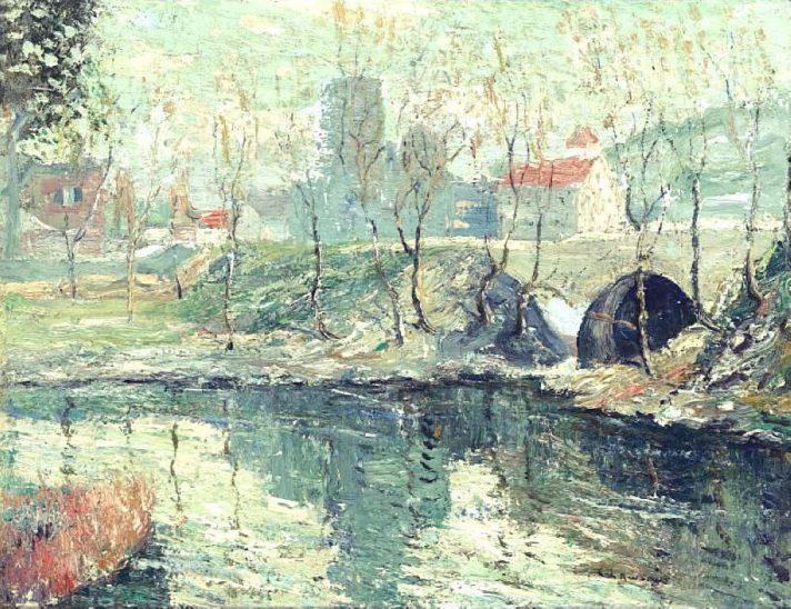 Эрнест Лоусон (1873-1939). Туманный день в марте. Около 1912-1914. Масло, холст. Источник https://upload.wikimedia.org/