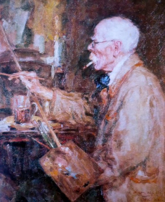 Николай Самокиш за работой. Источник http://1.bp.blogspot.com/