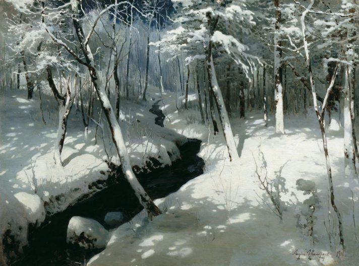 Андрей Николаевич Шильдер (1861-1919). Ручей в лесу. 1906.  Источник http://dic.academic.ru/