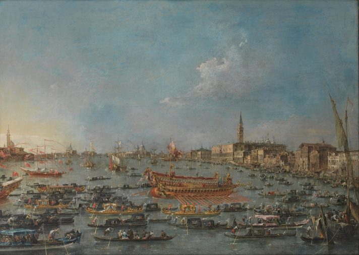 Франческо Гварди (1712-1793). Фестиваль Бучинторо в Венеции. Между 1727 и 1793. Масло, холст. 98х138 см. Национальная галерея Дании, Копенгаген, Дания. Источник https://upload.wikimedia.org/