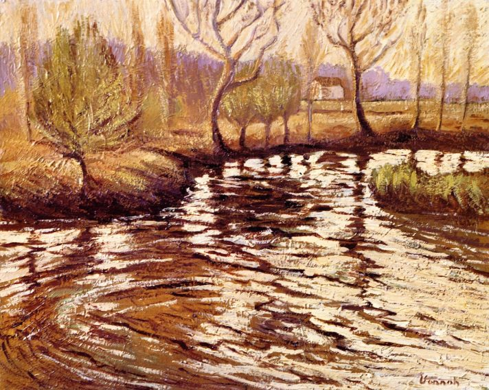 Роберт Воннох (1858-1933). Раннее утро на реке. Масло, холст. 41,3х 50,8 см. Частная коллекция. Источник http://www.the-athenaeum.org/