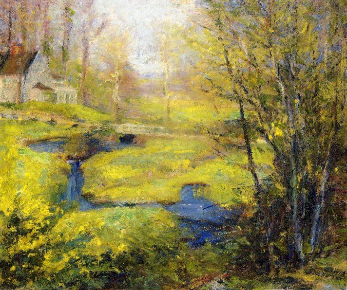 Роберт Воннох (1858-1933). Весна. Масло, холст. 20х24 см. Частная коллекция. Источник http://www.the-athenaeum.org/