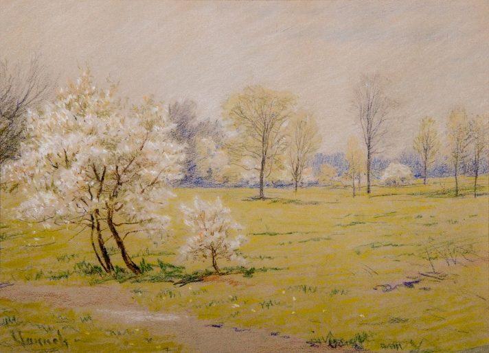 Роберт Воннох (1858-1933). Весенние цветы. Пастель. 25,4х35,6 см. Частная коллекция. Источник http://www.the-athenaeum.org/