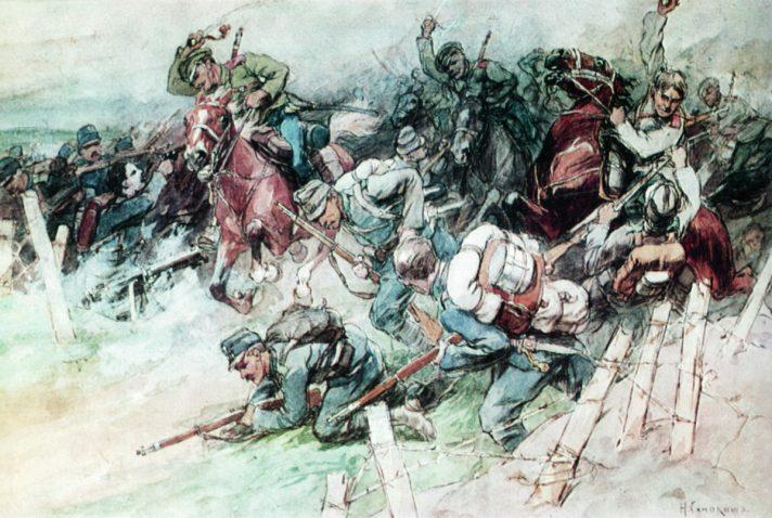 Николай Самокиш (1860-1944). Схватка. 1914. Частная коллекция. Источник http://www.the-athenaeum.org/