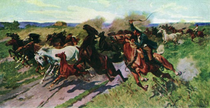 Николай Самокиш (1860-1944). Кони. 1912. Источник http://www.the-athenaeum.org/