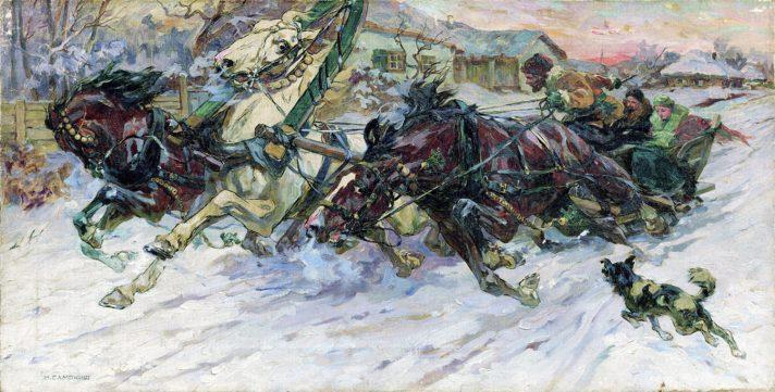 Николай Самокиш (1860-1944). Тройка. Севастопольский художественный музей, Севастополь. Источник http://www.the-athenaeum.org/
