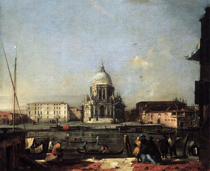 Франческо Гварди (1712-1793). Вид на церковь Санта Мария делла Салюте через Гранд-канал. 1760/1765. Масло, холст. 73х81 см. Музей истории искусств, Вена, Австрия. Источник http://www.wga.hu/