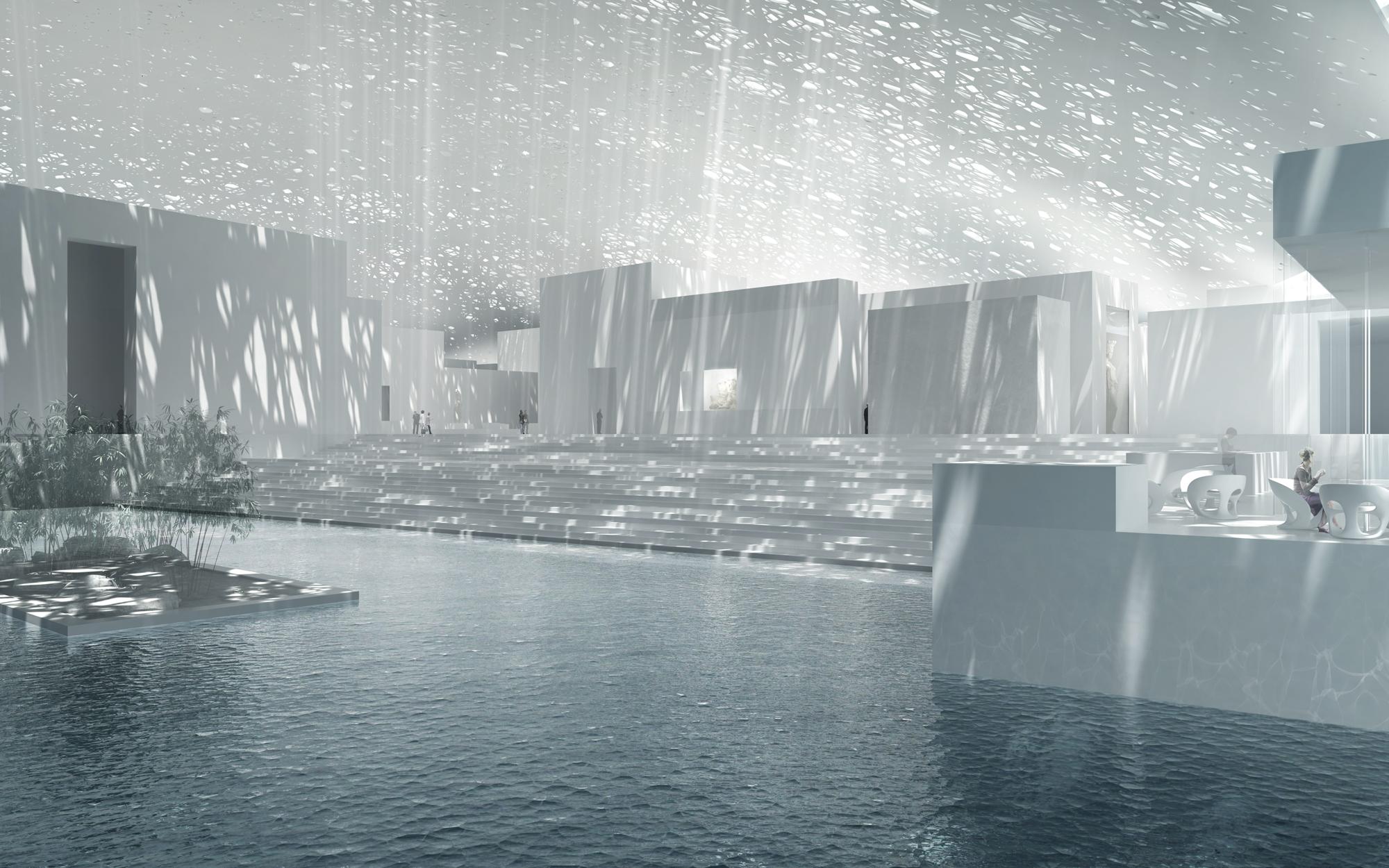 Так выглядит внутреннее пространство музея. Источник https://www.detail-online.com/
