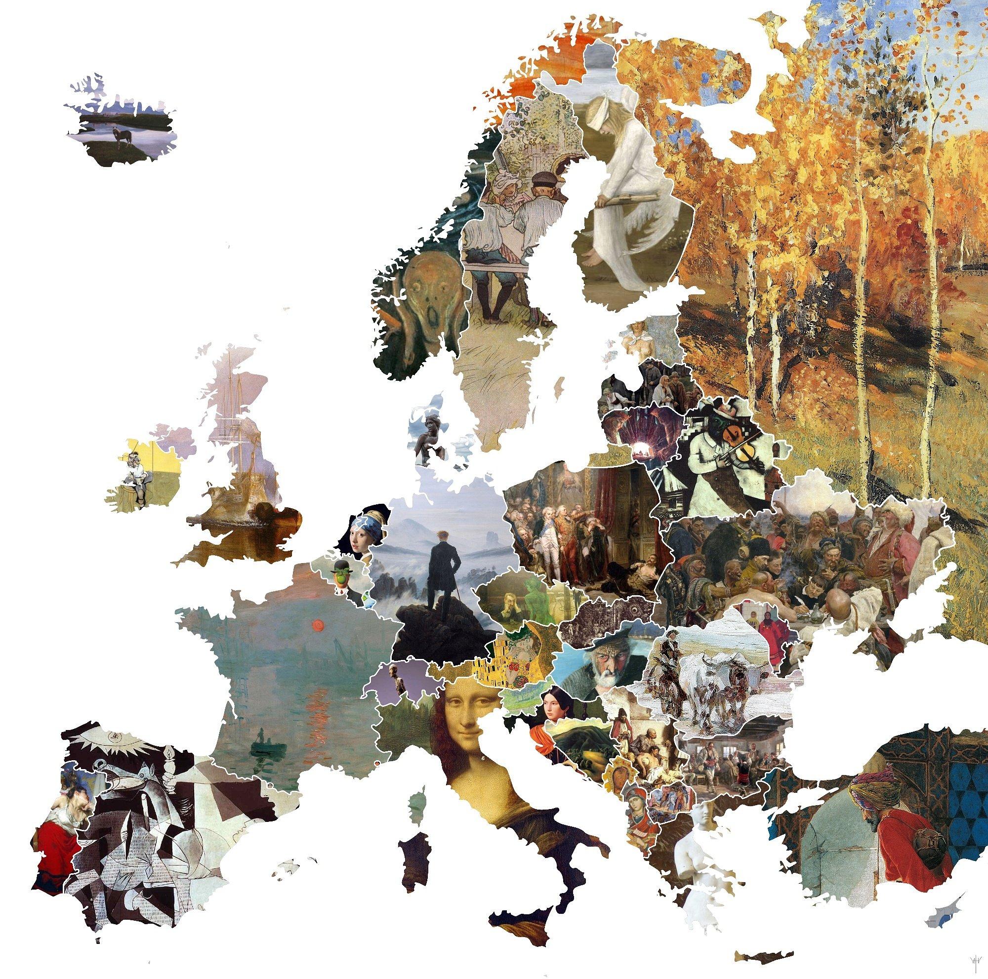 Художественная карта Европы. Источник http://poeu.ru/