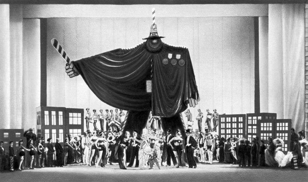 Зло капитализма. Сцена из балета «Золотой век».Фото. 1930. Источник иллюстрации: Викимедиа