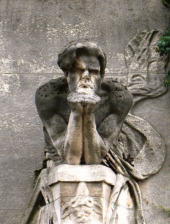 Жозе де Шармуа. Кенотаф Бодлера на кладбище Монпарнас. 1902. Источник: Викимедиа