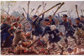 Прусский ландвер в сражении при Денневице 6 сентября 1813