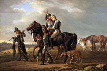 А. Адам (Adam), Альбрехт (1786-1862). Эпизод из кампании 1813-1814 годов. 1822 год. Отступающие французы.