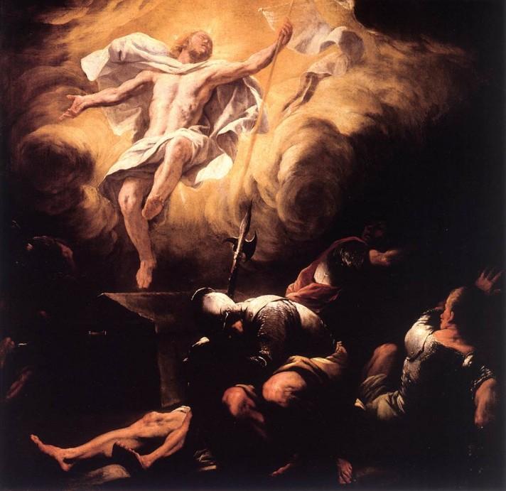 Лука Джордано (1634–1705). Воскресение. После 1665. Масло, холст. 114х116 см. Галерея Резиденции, Зальцбург.