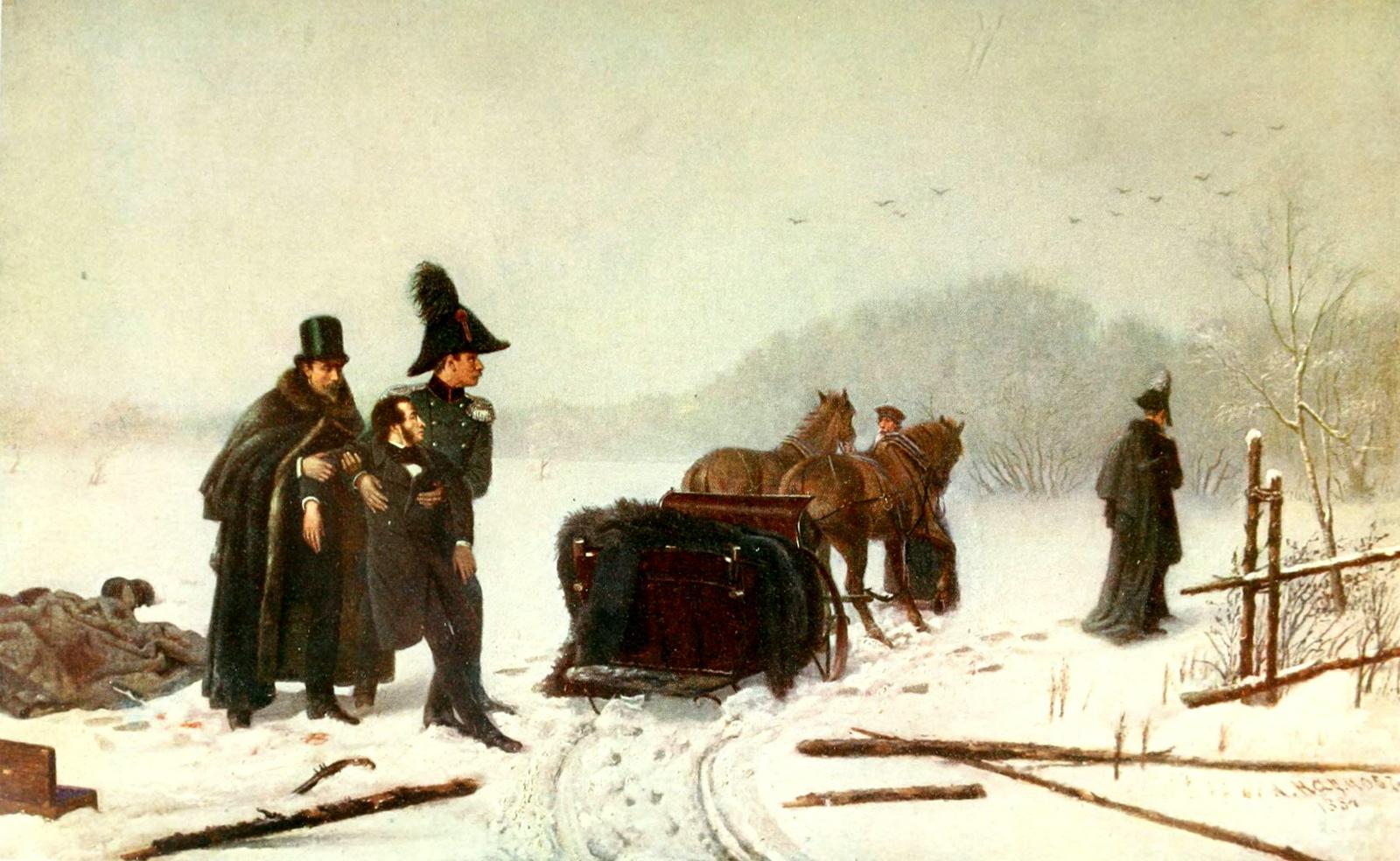 Алексей Авакумович Наумов (1840-1895). Дуэль Пушкина с Дантесом. 1884.