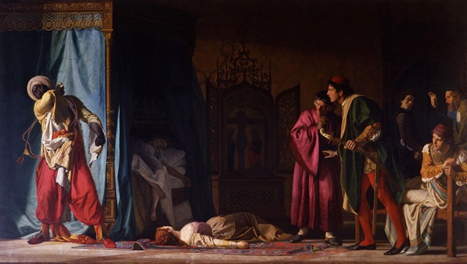Помпео Мольменти. Смерть Отелло. 1866. Картина-юбиляр.