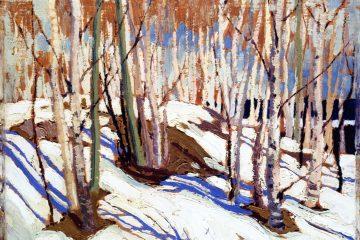 Том Томсон (1877-1917). Ранняя весна. Озеро Каноэ. 1917. Масло, дерево. 21,1х26,7 см. Галерея канадского искусства МакМайкл, Клейнбург. Источник http://www.the-athenaeum.org/