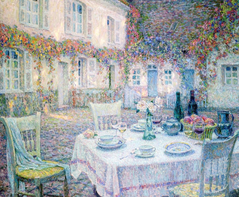 Анри Ле Сиданэ (1862-1939). Ланч. 1917. Масло, холст. 126х151 см. Частная коллекция. Источник http://www.the-athenaeum.org/